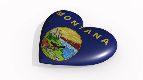 Montana heart beats and casts a shadow, loop Animation