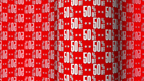 50 Percent Off Text Motion Background GIF