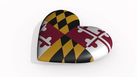 Maryland heart beats and casts a shadow, loop CG動画