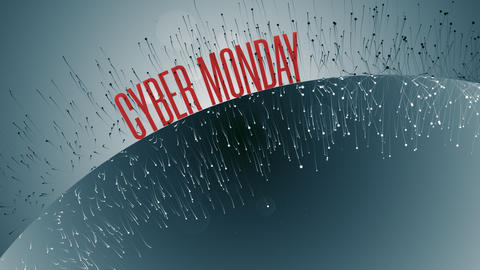 Animation With Cyber Monday Text GIF