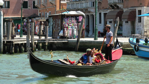 A gondola in Venice Live Action