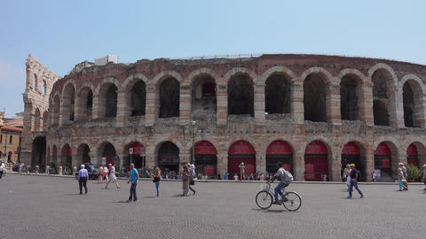 World famous Arena of Verona Live Action