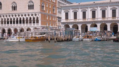 Famous Riva degli Schiavoni Walk in Venice - busy aera in Venice Footage