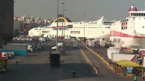 View of Piraeus port Footage