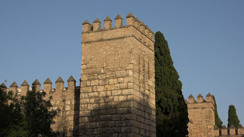 Defense Tower Of Medieval Castle Footage