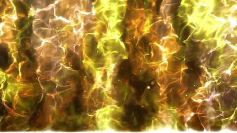 SHA Aura Up Effects Yellow Animation
