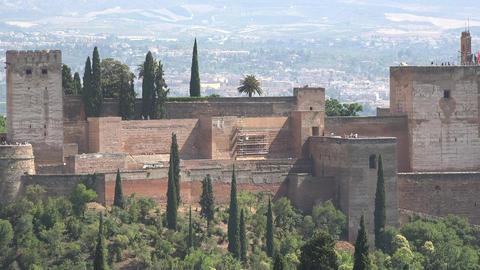 Medieval Arabic Castle In Spain Footage