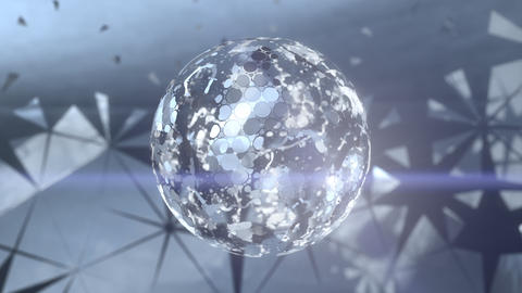Beautiful Abstract Mirrorball Stock Video Footage