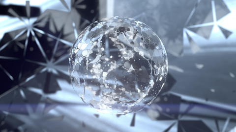 Beautiful Abstract Mirrorball CG動画素材