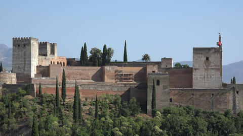 Alhambra Fortress In Spain Live Action