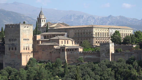 Alhambra Castle And Palace In Spain Live Action