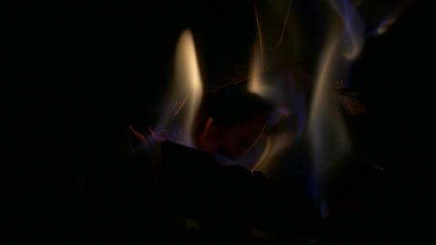 Closeup of fire Footage