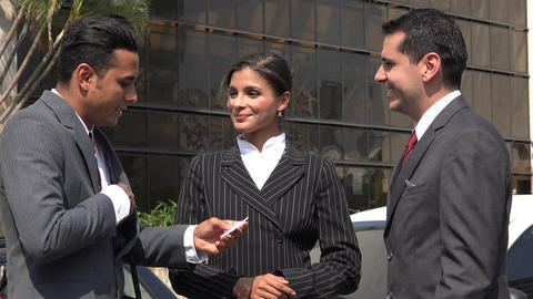 Business Associates Or Clients Meet Shake Hands Footage