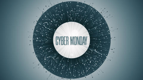 Modern Animation With Cyber Monday Text GIF