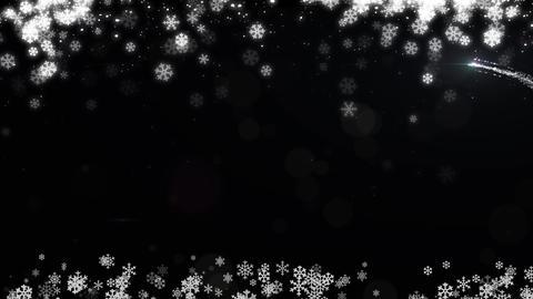 クリスマス 背景素材 キラキラ 雪 冬素材 CG動画
