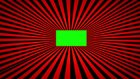 Abstract 3D background with multicoloured strips and green screen for your content Animation