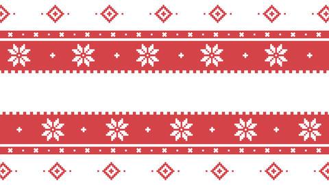 Traditional Lapland vector pattern, Sami people folk art... Stock Video Footage