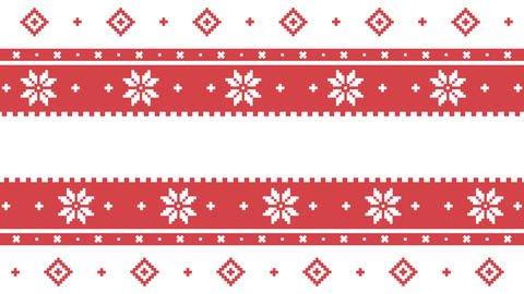 Traditional Lapland vector pattern, Sami people folk art design, traditional knitting and embroidery Animation