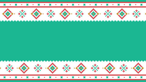 Text placeholder. Traditional Lapland vector pattern, Sami people folk art design, knitting and Animation
