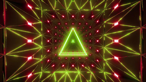 glowing triangle wireframe design 3d illustration motion background live Animation