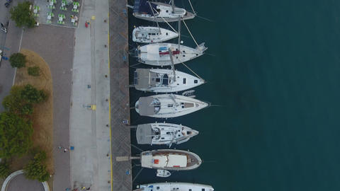 Above a Jetty with Sailing Yachts 1 Live Action