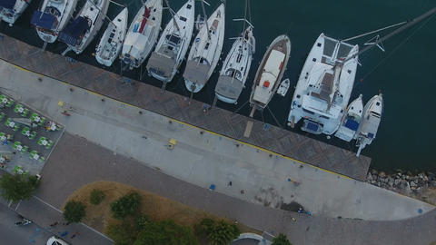 Above a Jetty with Sailing Yachts 2 Live Action