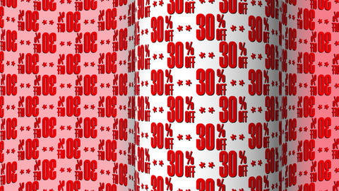 30 Text Motion Background, Red Letters GIF