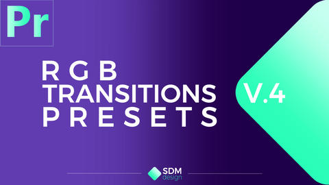 RGB Transitions Pack V.4 Plantillas de Premiere Pro