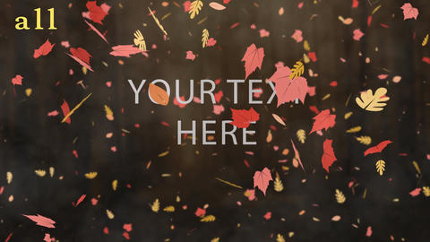 5 Different autumn leaf fall animation with fog effect After Effects Template
