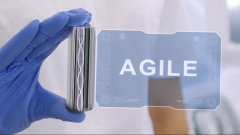 Hand in glove with hologram Agile Live Action