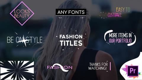 Fashion Titles Collection Motion Graphics Template