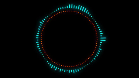 Audio Spectrum Music Visualizer Animation