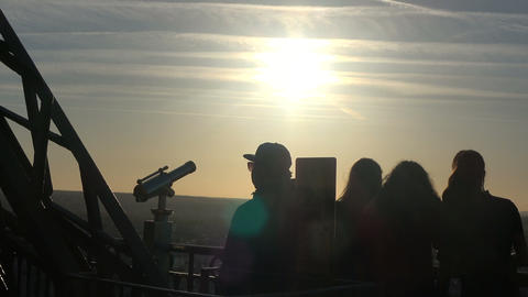 Shadows of People on the Eiffel Tower Live Action
