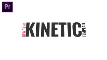 Kinetic Typography 모션 그래픽 템플릿