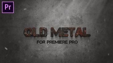 Metal Text Opener Motion Graphics Template