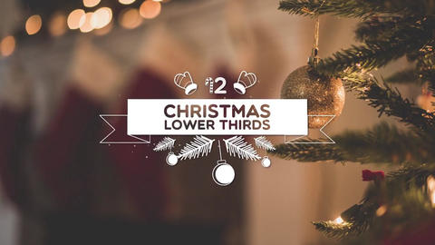 Christmas Lower Thirds Motion Graphics Template