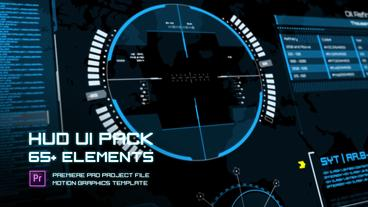 HUD UI Elements Pack - Mogrts Plantillas de Motion Graphics