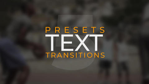 Text Transitions V.5 Plantillas de Premiere Pro