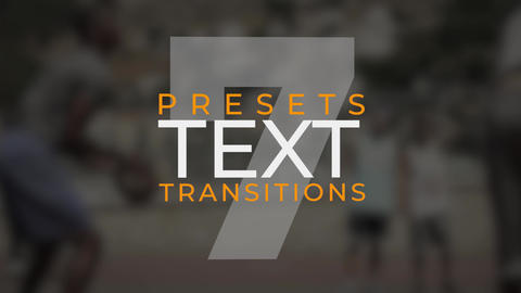 Text Transitions V.7 Plantillas de Premiere Pro
