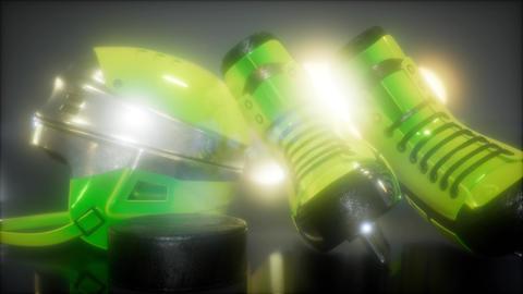 hockey equipment in the dark Footage