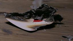 Burning poker card Footage