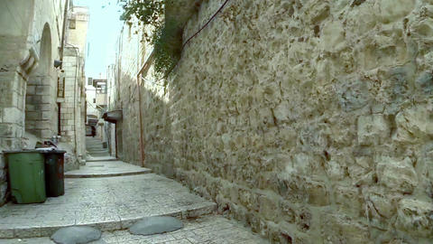 Strolling in the old city of Jerusalem, Israel Footage