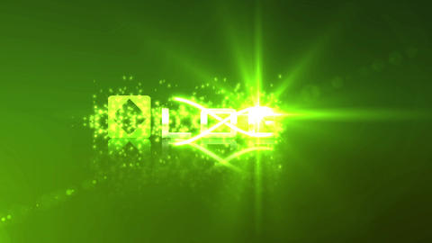 Glow Green Particle Light Streak Logo Reveal Animation Intro After Effects Template