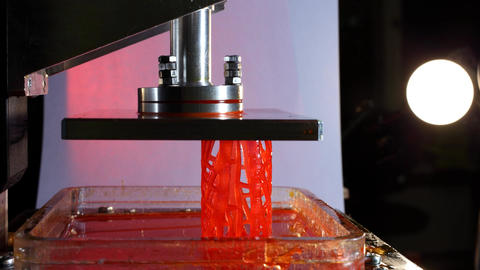 Progressive additive technology, lattice cylinder created using DPL 3d printer Footage