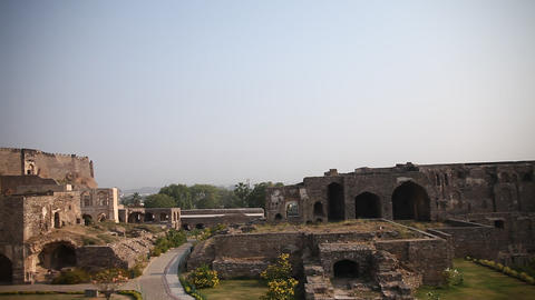 Golconda Fort Hyderabad India Footage