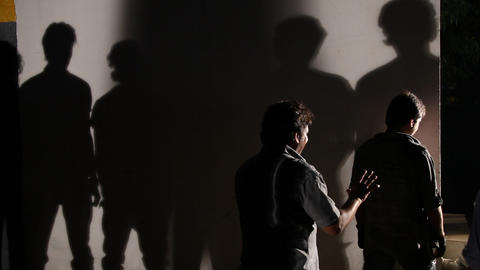 People shadows on the wall Footage