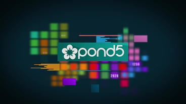 Colored Tile Logo After Effects Templates