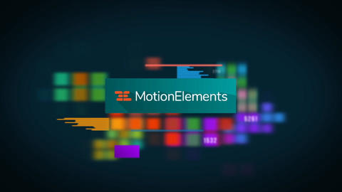 Colored Tile Logo After Effects Template