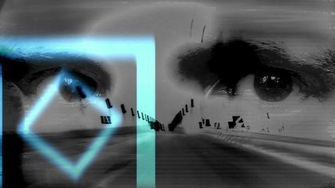 Mixing Bridge ride,Eyes and Geometry Footage