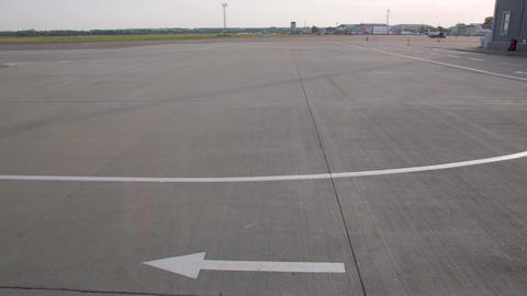 The Runway Markings At Airport Live Action